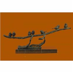 Art Deco Love Birds Limited Edition Bronze Sculpture Marble Base Figurine Figure