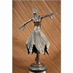 BEAUTIFUL ART DECO BRONZE DANCER SIGNED BY D.H. CHIPARUS