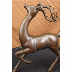 Deer Buck Bronze Statue Hunter Vanderveen Art