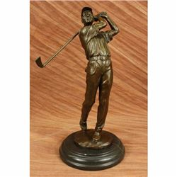 Golfer Golf Bronze Marble Statue Club Trophy Tournament PGA Art Birthday Gift