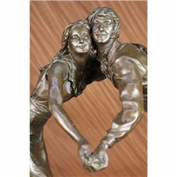 Art Deco Valentine Love Romance Gift Idea Tango Bronze Statue Sculpture Figurine