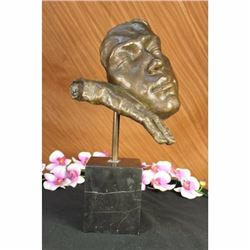 Salvador Dali Modern Art Resting Man Bronze Bust Statue Sculpture Figure Decor