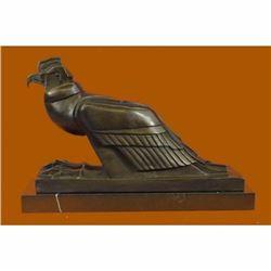AN EGYPTIAN STYLE FIGURE OF THE HORUS FALCON, NEW KINGDOM HOT