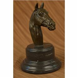 Original Signed Horse Head Bust Bronze Sculpture Statue Art Deco Figurine Figure