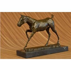 Signed Original Large Abstract Majestic Stallion Horse Bronze Sculpture Statue
