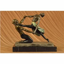 Original Unique Aldo Vitaleh Multi Color 2 Ballerina Ballet Dance Bronze Statue