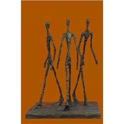 Three Walking Man by Gia Hot cast Bronze Sculpture Figurine Figure Home Decor