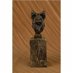 Scottish Terrier Bust Bookend Book-End Bronze Sculpture Original signed Statue