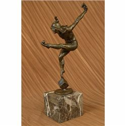 Original Vitaleh Nude Blind Folded Male Juggler Bronze sculpture Marble statue