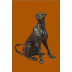 Cougar Panther Jaguar Cat Collector Bronze Bookend Statue Paperweight Art Deco