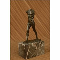 Nude Male Musee DOrsay Erotic Sensual Walking Man Bronze Marble Statue