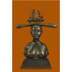 Hot Cast Nude Woman Bust by Salvador Dali Bronze Sculpture Extra Large Statue