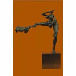 Signed Original R.Cook Limited Edition Nude Naked Girl Bronze Sculpture Figurine