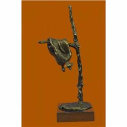 Stunning Picaso Dali Gia Abstract Clock Home Decor Bronze Sculpture Marble Base
