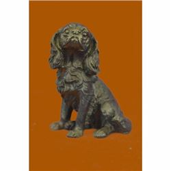 Bronze Sculpture Bookend Book End Animal Pet Dog Spaniel Cocker Bust Figurine