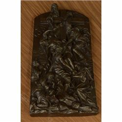 Inspiring Bronze Sculpture The Descent from the Cross Wall Mount Christ Figure