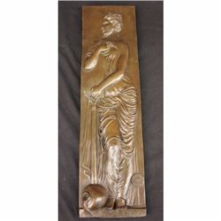 19 Tall Original Vitaleh Bass Relief Nude Figural Lost Wax Home Decor Sculpture