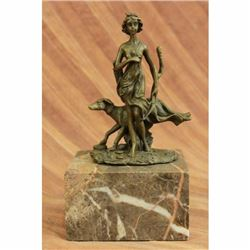 Art Deco Diana the Hunter Bronze Book End Bookend Sculpture Statue Hot Cast Sale
