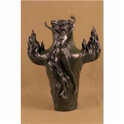 Large Hot Cast Exquisite Nude Nymph by Chalon Bronze Sculpture Statue Decor Gift