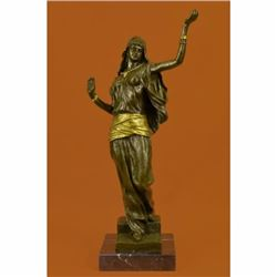 Bronze Sculpture Gilt Gold Bronze Harem Woman By Italian Artist Aldo Vitaleh Art