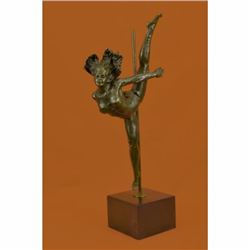 Art Deco Aldo Vitaleh Large Ballerina Dancer Bronze Sculpture Marble Statue Sale