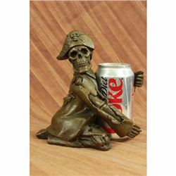 Hot Cast Pirate Skeleton Wine Holder Bronze Sculpture Statue Figurine Figural NR