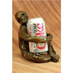 Hot Cast Home Decor Halloween Decor Skeleton Wine Holder Kitchen Art Deco Figure