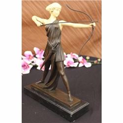 Signed Diana the Hunter, also known as Diana Nemorensis Sculpture