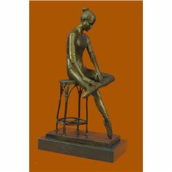 Edgar Degas Ballerina Bronze Sculpture Marble Base Figurine Figure Sale Home Art