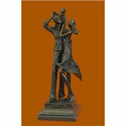 Abstract Modern Art Happy Family Bronze Sculpture Christmas Gift Idea Statue Art