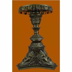 Hot Cast European Greek Mythology Zeus Pedestal Table Display Bronze Sculpture