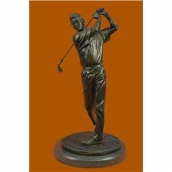 13 Tall Bronze Statue Vintage Golfer Golfing Trophy Bobby Jones Sculpture SALE