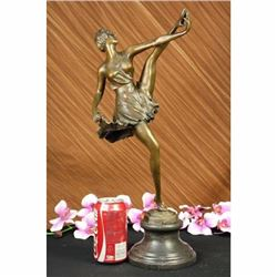 THE RUSSIAN DANCER ART DECO MARBLE BASE HOT CAST BRONZE SCULPTURE REAL