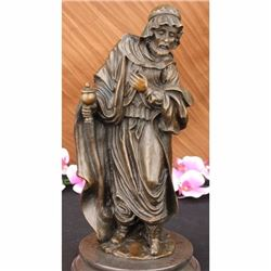 Christ Holly Wise Man Church Religious Religion Bronze