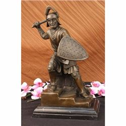 Signed Original Kamiko Japanese samurai Warrior Bronze Marble Sculpture