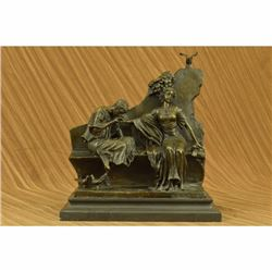 Art Nouveau Couple Romance Romantic Love Museum Quality Bronze Sculpture Figure