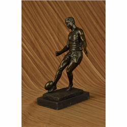 Large Muscular Rugby Player Bronze Sculpture Statue Marble Figurine by Milo