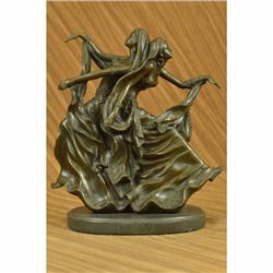 Signed Museum Quality Twin Dancer By Aldo Vitaleh Bronze Hot Cast Sculpture Rare