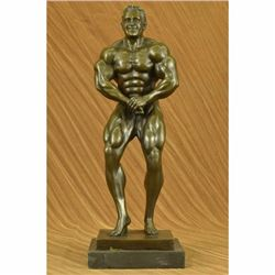 Collectible Lou Ferrigno Incredible Hulk Trophy Sport Body Building Bronze Decor