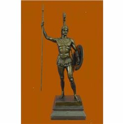 After Johannes Gotz Achilles in Hoplite Uniform Bronze Sculpture Marble Figurine