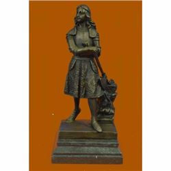 Signed Fremiet French Artisan Tribute to Joan of Arc Bronze Sculpture Statue Art
