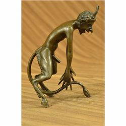 Satyr Chasing Nymph Original Vienna Bronze Collector Edition Sculpture Statue