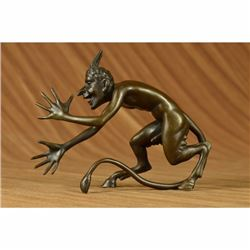 Large Satyr Chasing Nymph Bronze Sculpture Statue Figurine Figure Hot Cast Decor