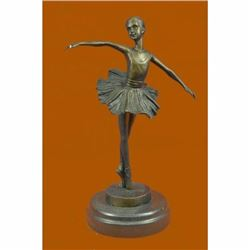 COLLECTIBLE BRONZE SCULPTURE STATUE Dancers 10 Tall Classical Dancer Ballerina