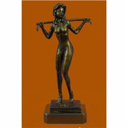 Hot Cast Erotic Art Sexual Bronze Sculpture by German Artist Preiss Figurine Art