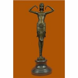 EXOTIC DANCER CHIPARUS BRONZE STATUE ART DECO NOUVEAU HOT CAST SCULPTURE FIGURE