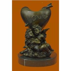 Hot Cast Be my Valentine by French Artist Moreau Candle Holder Bronze Statue