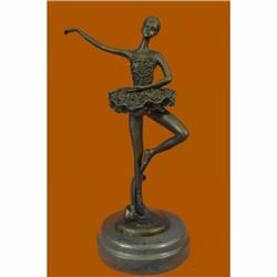 Art Deco Cute Child Ballerina a Bronze Trophy Sculpture Hot Cast Figurine Figure