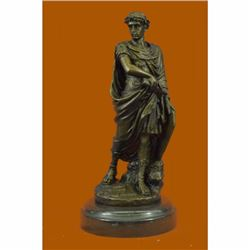 Julius Caesar Statue Figurine Art Sculpture - Roman Emperor 100% real Bronze Art