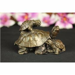 Vienna Bronze Snapping TURTLE TORTOISE Collectible Figurine Sculpture Statue